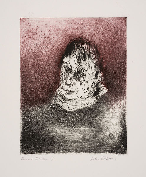 Francis Bacon Drypoint And Monotype 1984 By Milein Cosman
